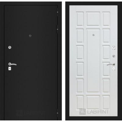 Дверь Лабиринт Classic 12 (Шагрень черная / Белое дерево)