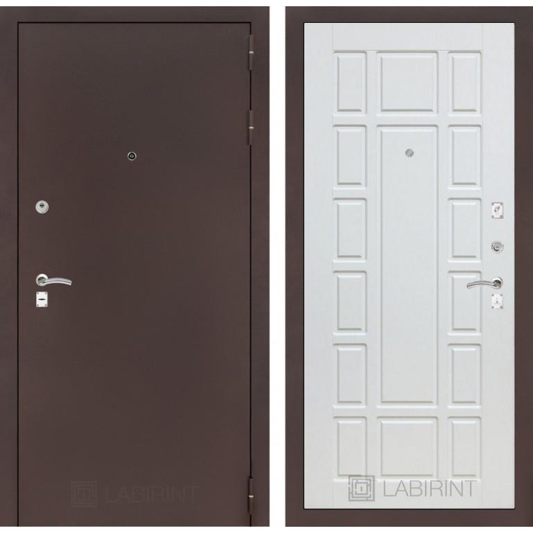 Дверь Лабиринт Classic 12 (Антик медный / Белое дерево)