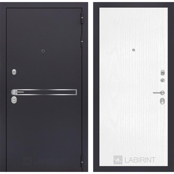 Стальная дверь Лабиринт LINE 07 (Белое дерево)