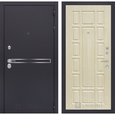 Стальная дверь Лабиринт LINE 12 (Беленый дуб)