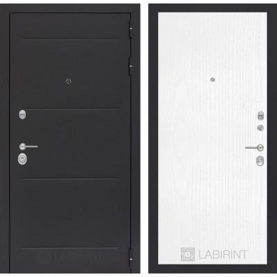 Стальная дверь Лабиринт LOFT 07 (Белое дерево)