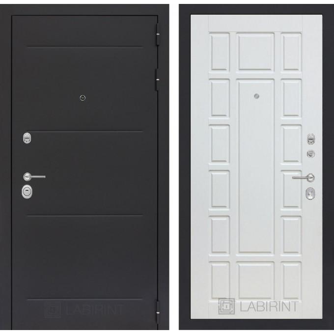 Стальная дверь Лабиринт LOFT 12 (Белое дерево)