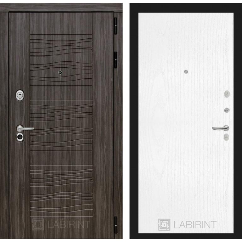 Стальная дверь Лабиринт SCANDI 07 (Белое дерево)