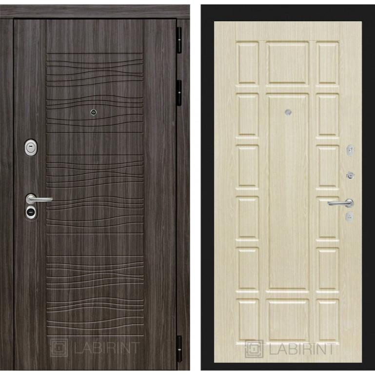 Стальная дверь Лабиринт SCANDI 12 (Беленый дуб)