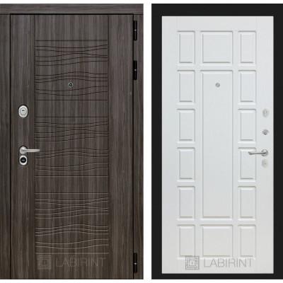 Стальная дверь Лабиринт SCANDI 12 (Белое дерево)