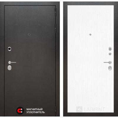 Стальная дверь Лабиринт SILVER 07 (Белое дерево)