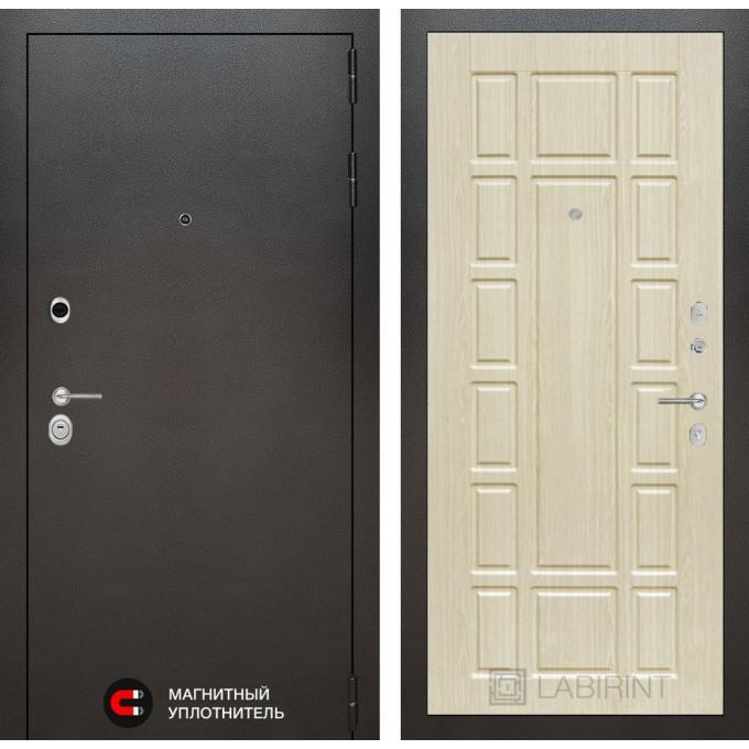Стальная дверь Лабиринт SILVER 12 (Беленый дуб)
