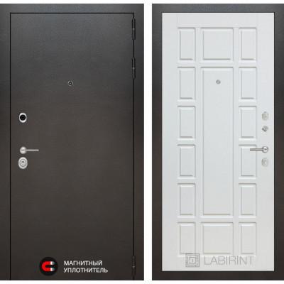 Стальная дверь Лабиринт SILVER 12 (Белое дерево)
