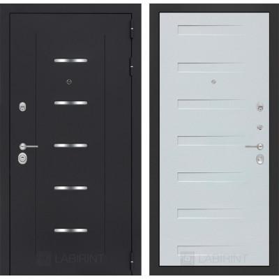 Стальная дверь Лабиринт ALFA 14 (Дуб кантри белый)