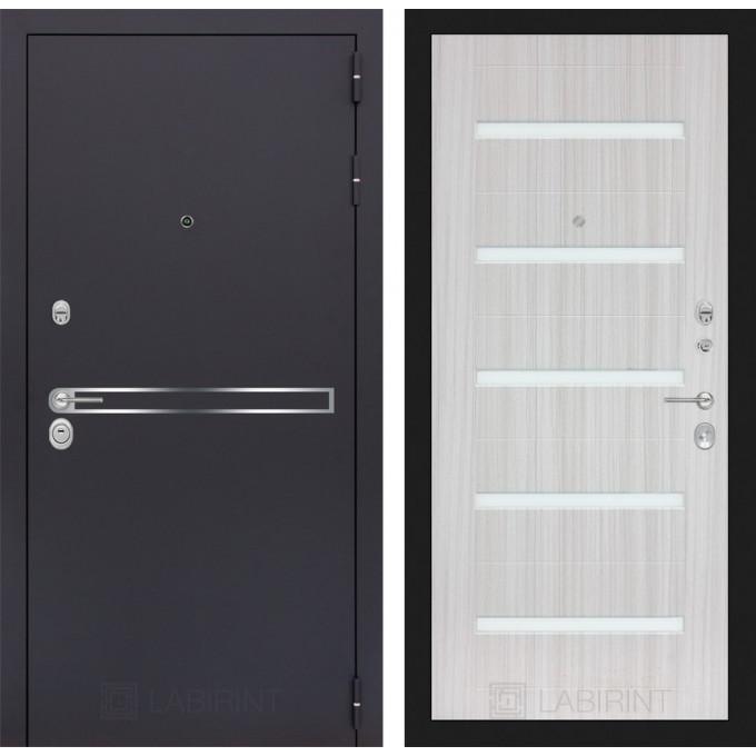 Стальная дверь Лабиринт LINE 01 (Сандал белый)