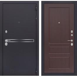 Стальная дверь Лабиринт LINE 03 (Орех премиум)