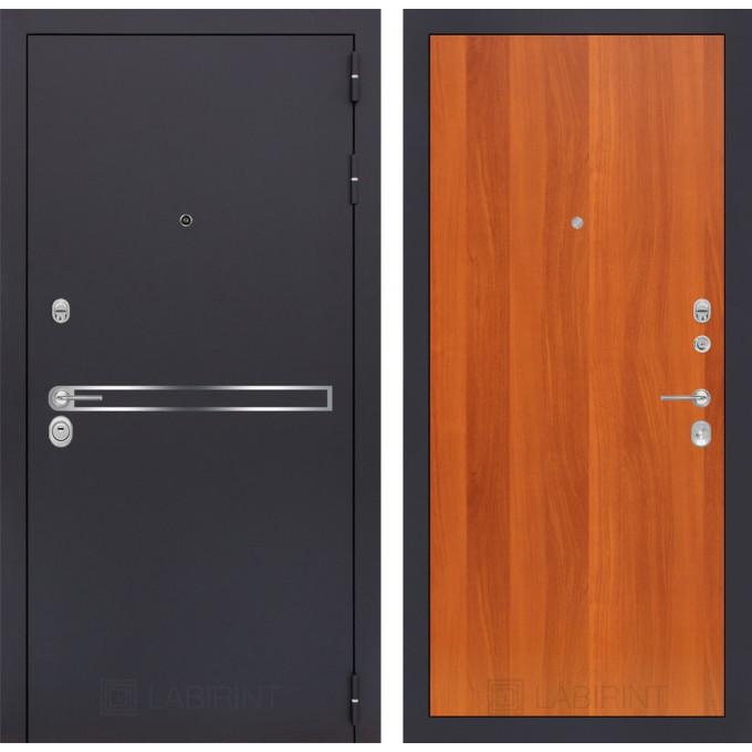 Стальная дверь Лабиринт LINE 05 (Итальянский орех)