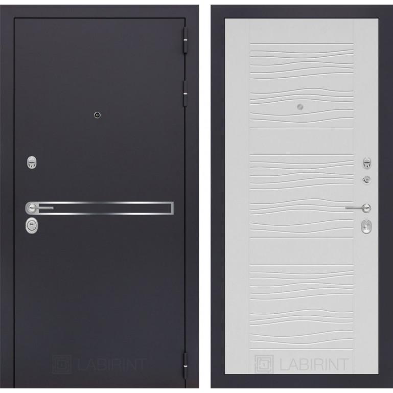 Стальная дверь Лабиринт LINE 06 (Белое дерево)