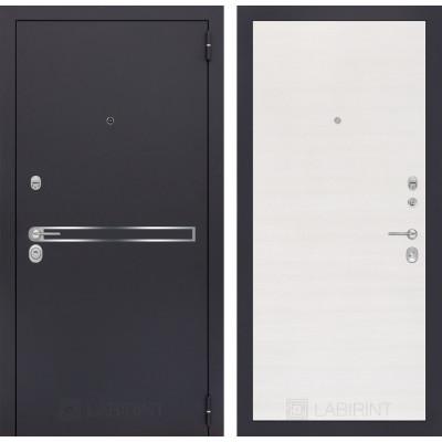 Стальная дверь Лабиринт LINE 07 (Перламутр горизонтальный)