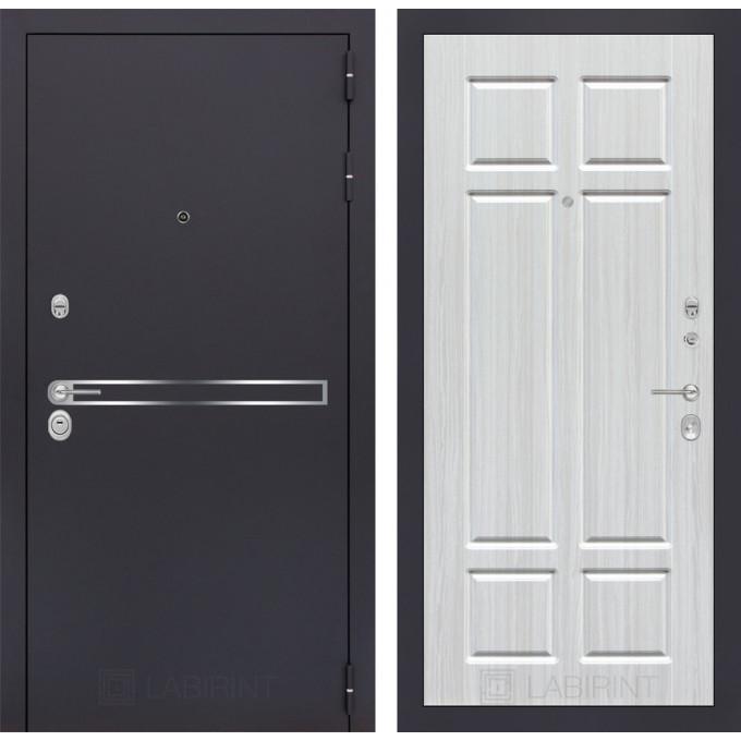 Стальная дверь Лабиринт LINE 08 (Кристалл вуд)