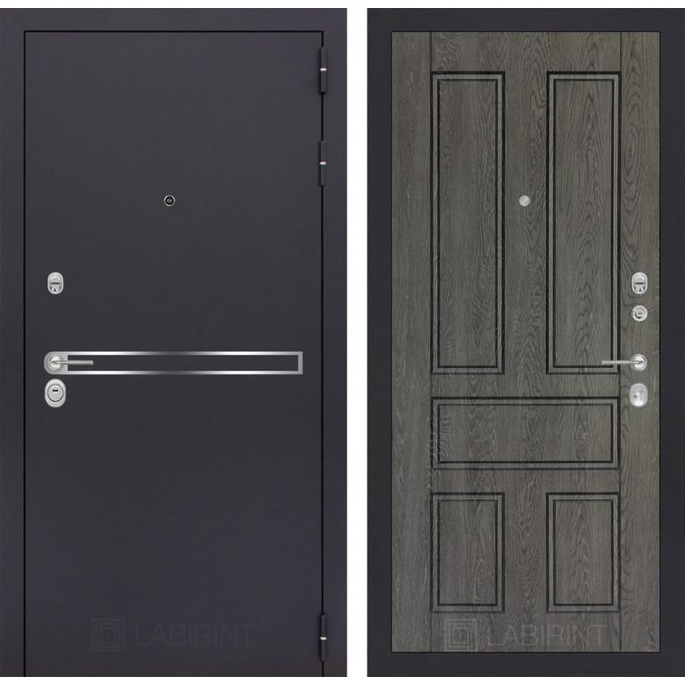 Стальная дверь Лабиринт LINE 10 (Дуб филадельфия)