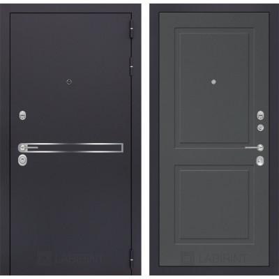 Стальная дверь Лабиринт LINE 11 (Графит софт)