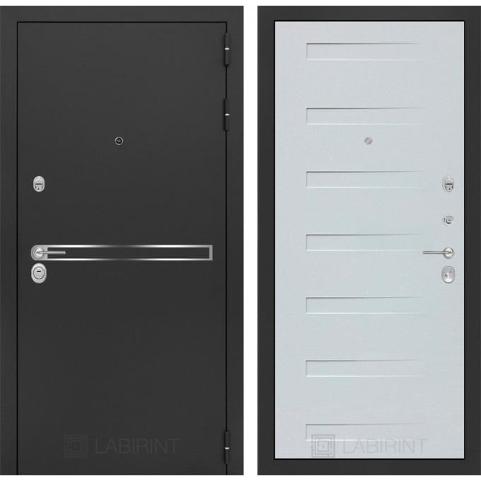 Стальная дверь Лабиринт LINE 14 (Дуб кантри белый)