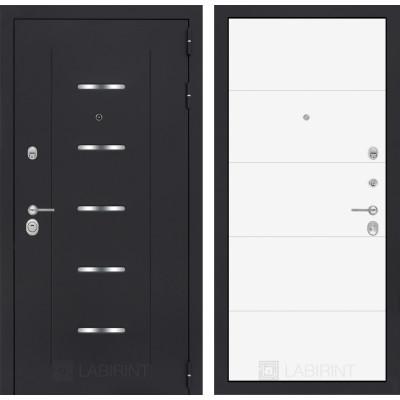 Стальная дверь Лабиринт ALFA 13 (Белый софт)