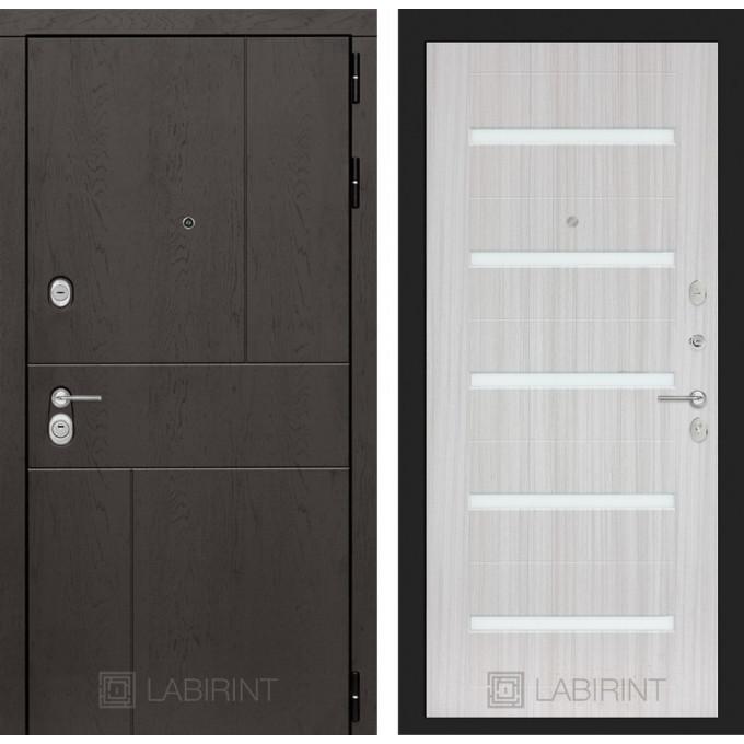 Стальная дверь Лабиринт URBAN 01 (Сандал белый)