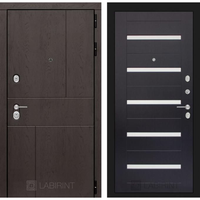 Стальная дверь Лабиринт URBAN 01 (Венге)