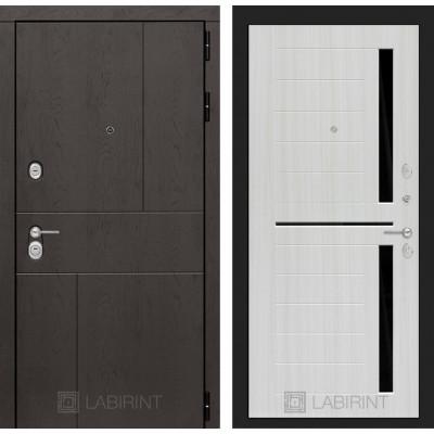 Стальная дверь Лабиринт URBAN 02 (Сандал белый)