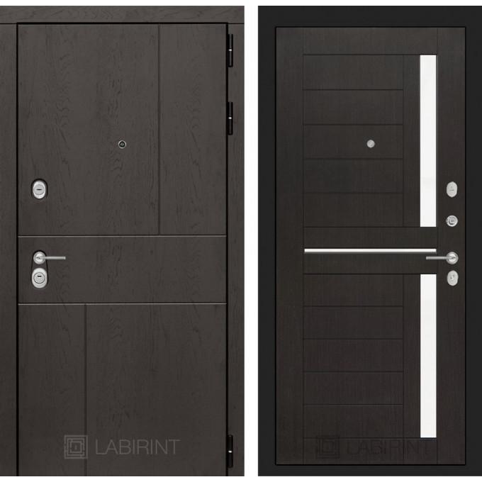 Стальная дверь Лабиринт URBAN 02 (Венге)