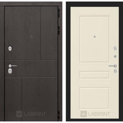 Стальная дверь Лабиринт URBAN 03 (Крем софт)
