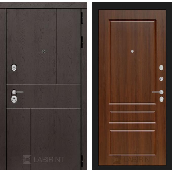 Стальная дверь Лабиринт URBAN 03 (Орех бренди)