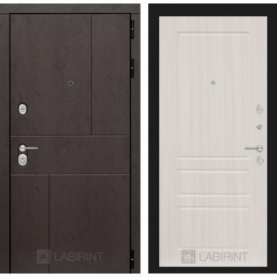 Стальная дверь Лабиринт URBAN 03 (Сандал белый)