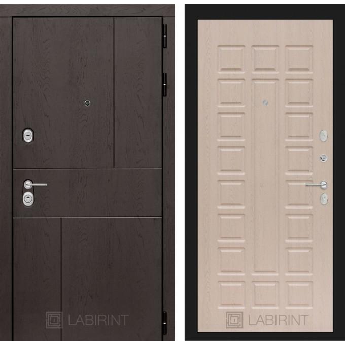 Стальная дверь Лабиринт URBAN 04 (Беленый дуб)