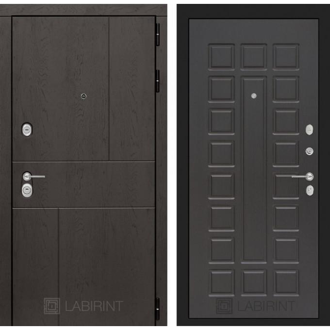 Стальная дверь Лабиринт URBAN 04 (Венге)