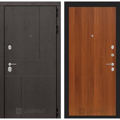 Стальная дверь Лабиринт URBAN 05 (Итальянский орех)