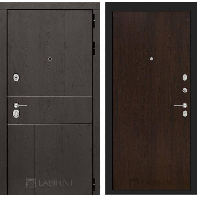 Стальная дверь Лабиринт URBAN 05 (Венге)