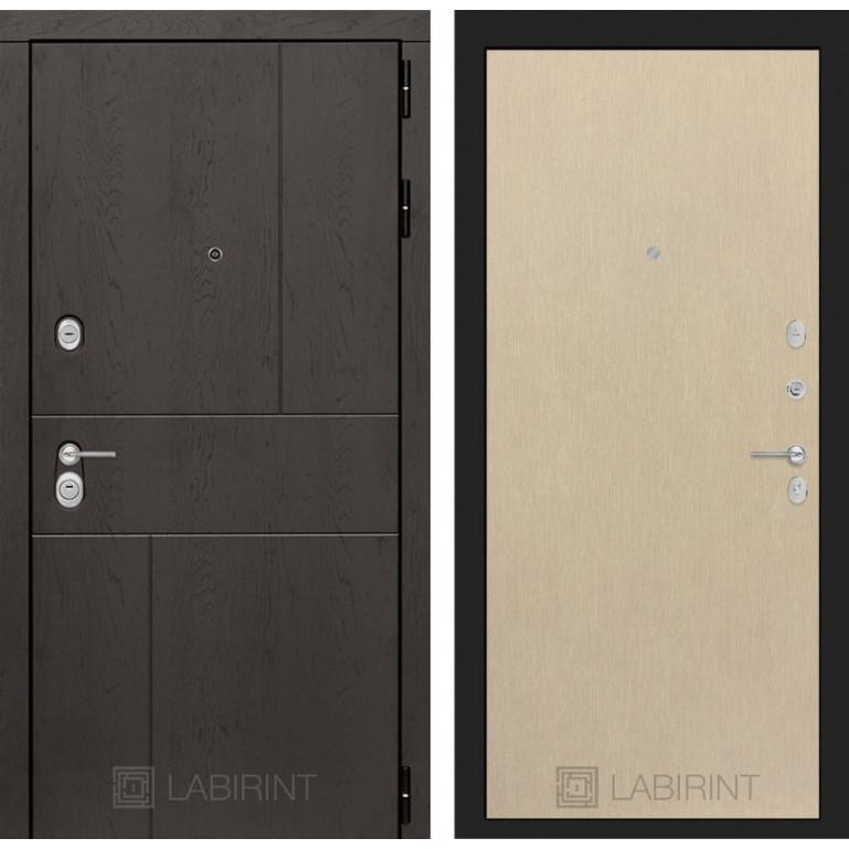 Стальная дверь Лабиринт URBAN 05 (Беленый дуб)