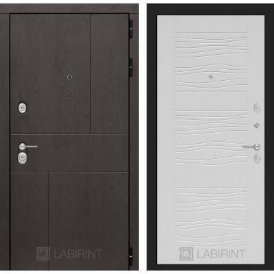 Стальная дверь Лабиринт URBAN 06 (Белое дерево)