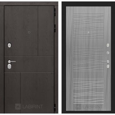 Стальная дверь Лабиринт URBAN 06 (Сандал серый)