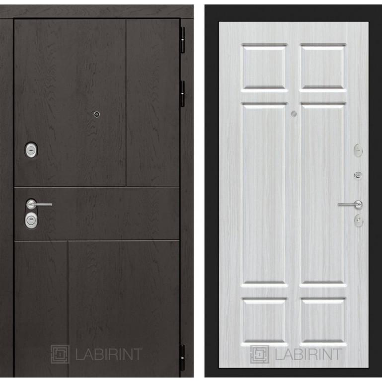Стальная дверь Лабиринт URBAN 08 (Кристалл вуд)