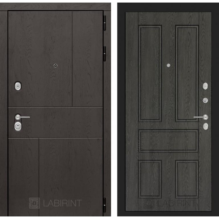Стальная дверь Лабиринт URBAN 10 (Дуб филадельфия)