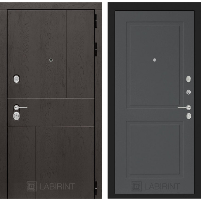 Стальная дверь Лабиринт URBAN 11 (Графит софт)