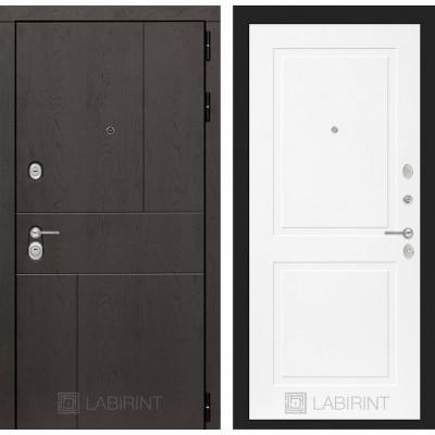Стальная дверь Лабиринт URBAN 11 (Белый софт)