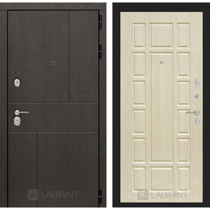 Стальная дверь Лабиринт URBAN 12 (Беленый дуб)