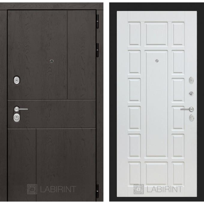 Стальная дверь Лабиринт URBAN 12 (Белое дерево)