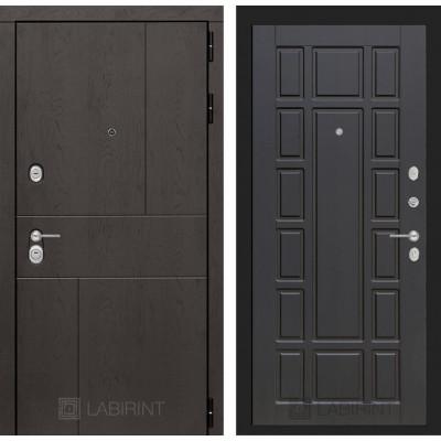 Стальная дверь Лабиринт URBAN 12 (Венге)