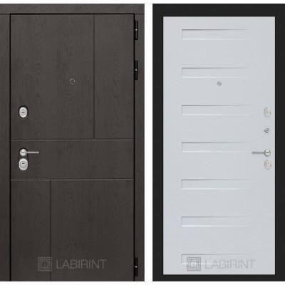Стальная дверь Лабиринт URBAN 14 (Дуб кантри белый)