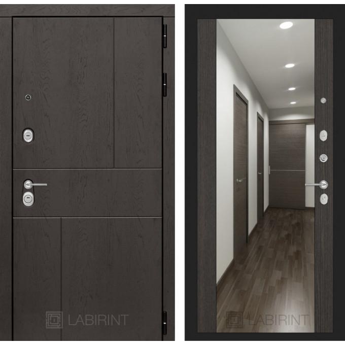 Стальная дверь Лабиринт URBAN Максимум с зеркалом (Венге)