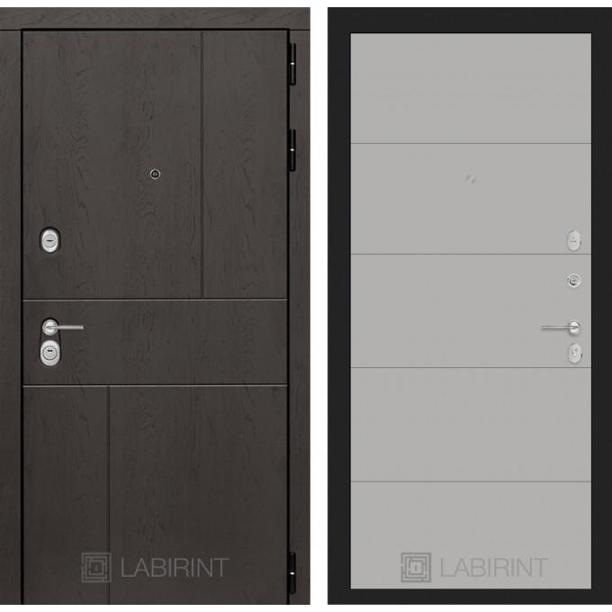 Стальная дверь Лабиринт URBAN 13 (Грей софт)