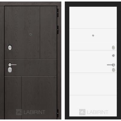 Стальная дверь Лабиринт URBAN 13 (Белый софт)