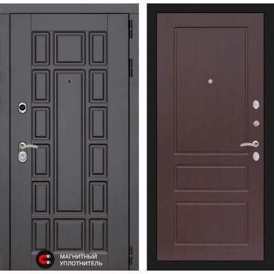 Стальная дверь Лабиринт NEW YORK 03 (Орех премиум)