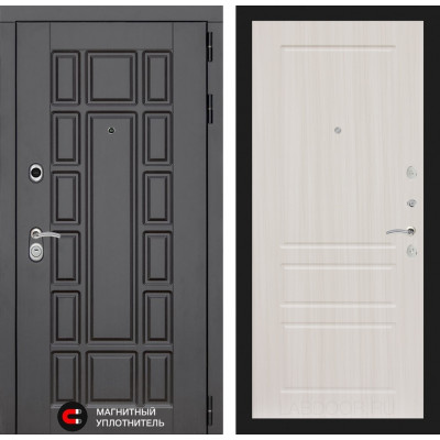 Стальная дверь Лабиринт NEW YORK 03 (Сандал белый)